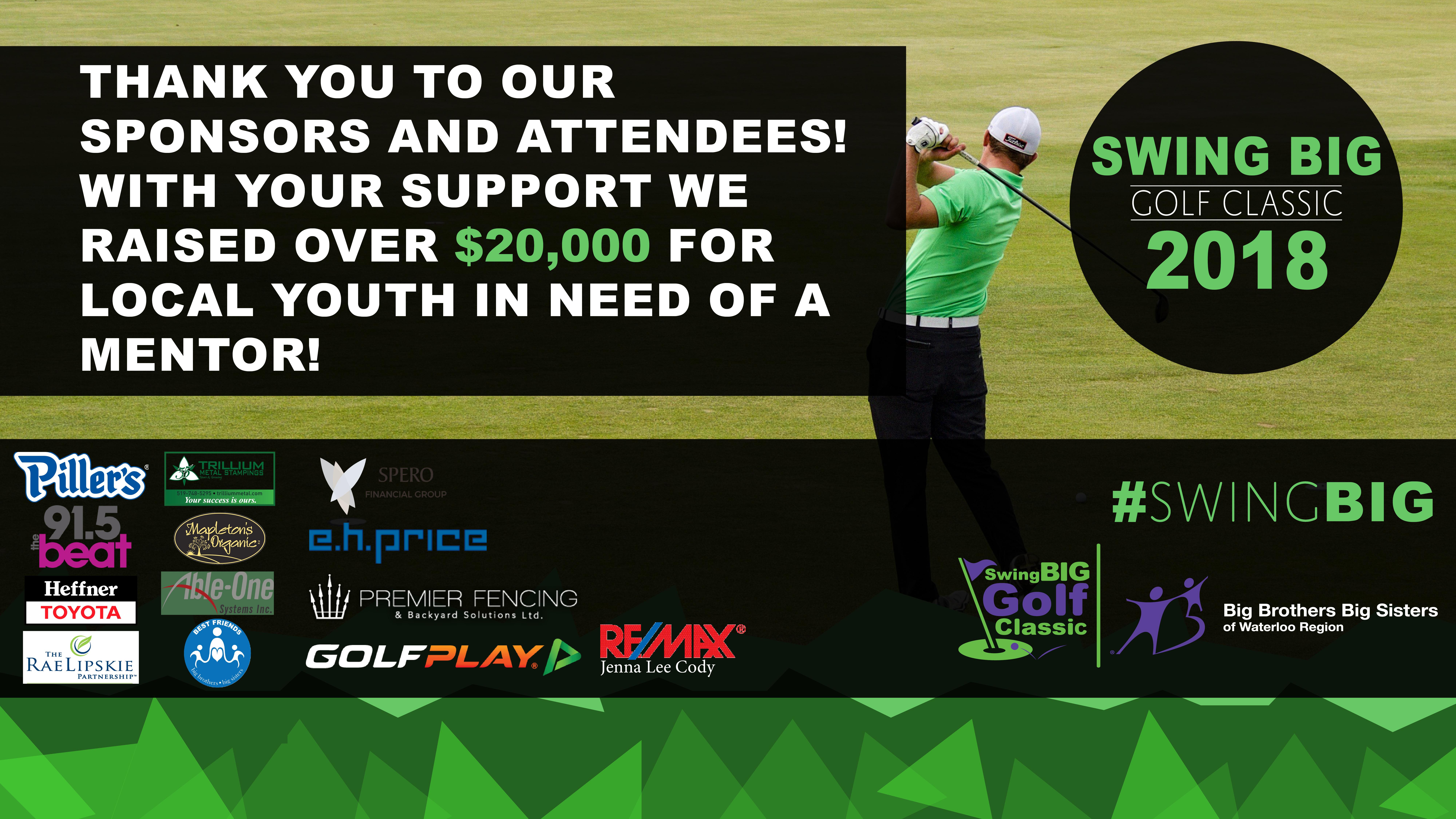 Swing Big Golf Classic Thank You Banner