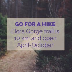 Elora Gorge Hike Trail Activity Idea