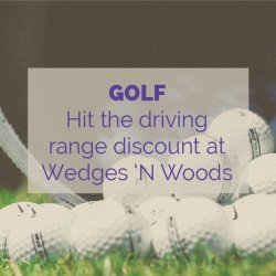 Wedges 'n Woods Driving Range Golf Activity Idea