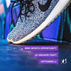3D Sneaker Craft BBBS Month