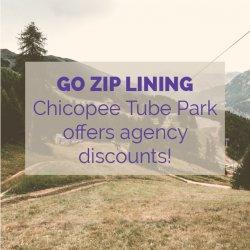 Chicopee Tube Park Zipline Activity Idea