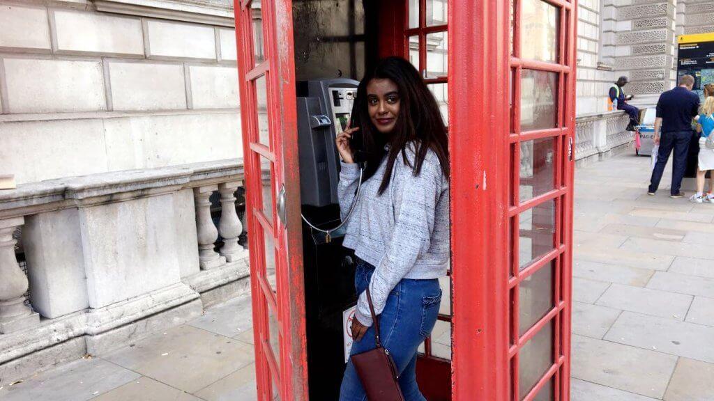 Fayza Holding Phone