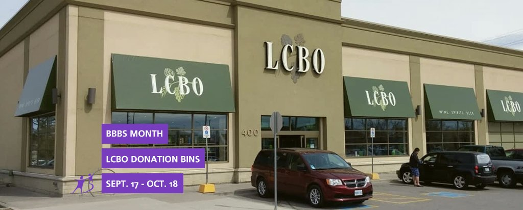 LCBO Donation Bins for BBBS Month