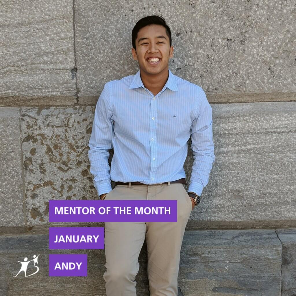 Andy Chea January Mentor of the Month