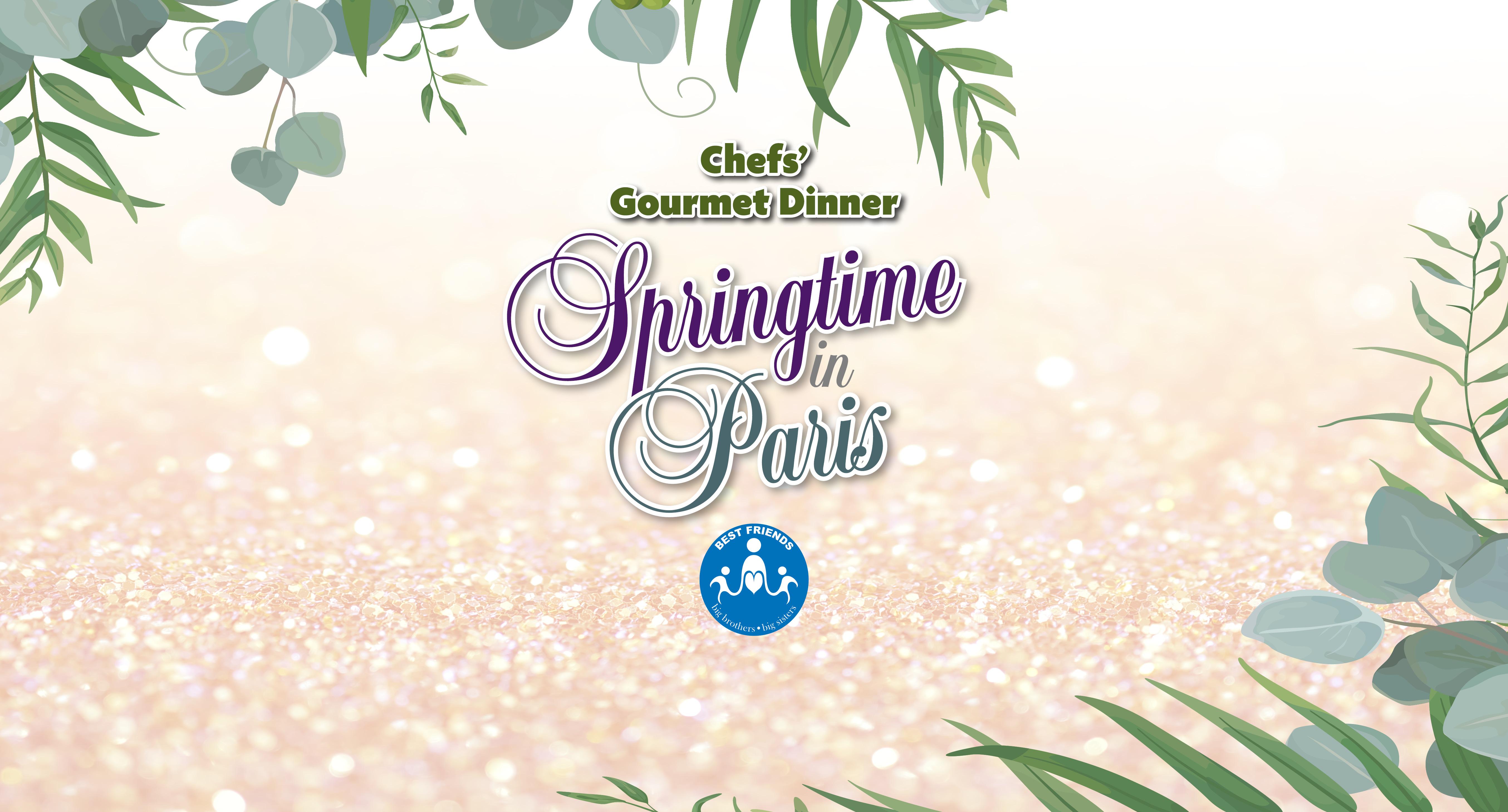 Chefs Gourmet Dinner Springtime in Paris Slider